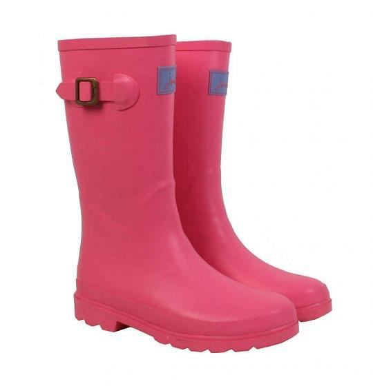 Joules Girls Field Welly Neon Candy
