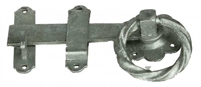 Eliza Tinsley Twisted Ring Gate Catch Galvanised 152 mm (6 inch)