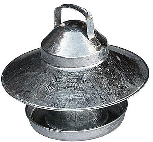 Galvanised Outdoor Poultry Feeder 2.2kg