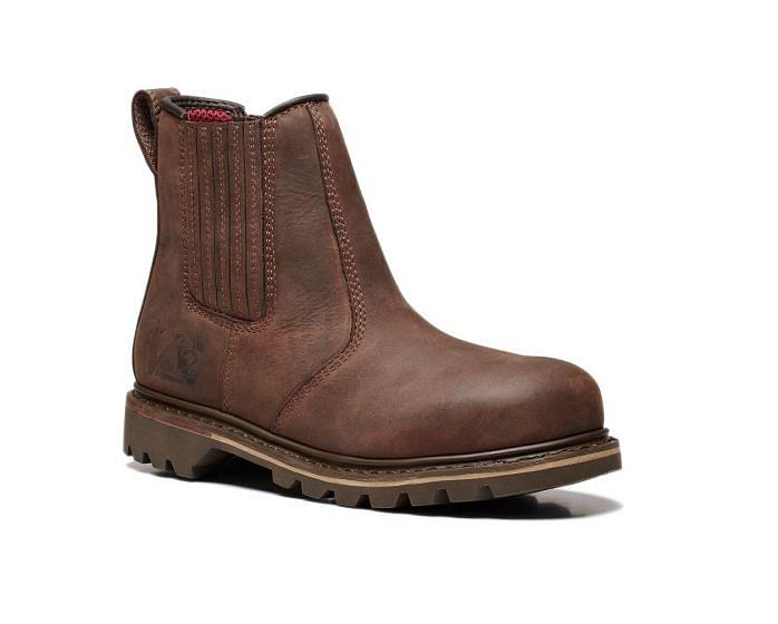 Rawhide V1231 Safety Oiled Leather Dealer Boot Brown