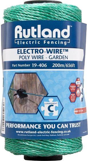 Rutland Electric Fencing Green Electro-Wire