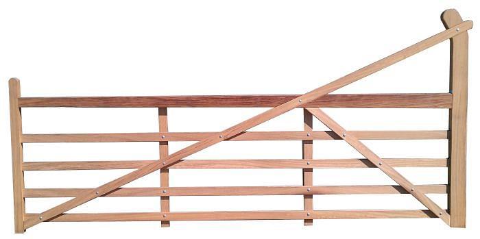 Iroko Timber Ranch Gate