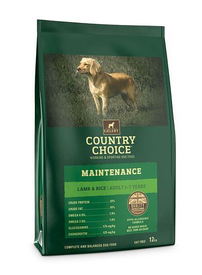 Gelert Country Choice Maintenance Lamb & Rice Dog Food 12kg