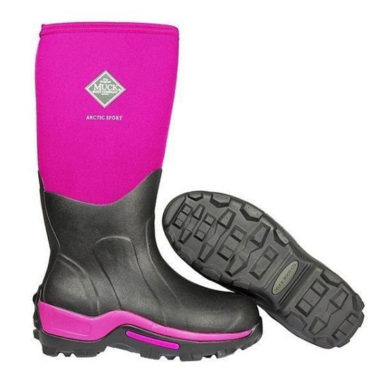 Muckboot Arctic Sport II Tall Black/Hot Pink