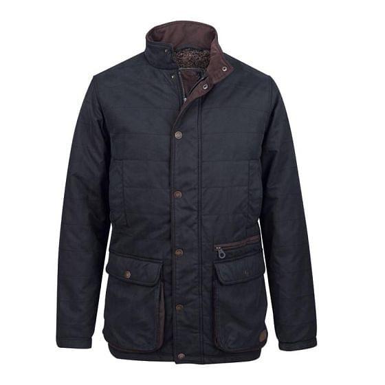 Jack Murphy Mens Redmond Vintage Wax Look Jacket Black