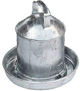 Galvanised Fountain Poultry Drinker 1 Gallon