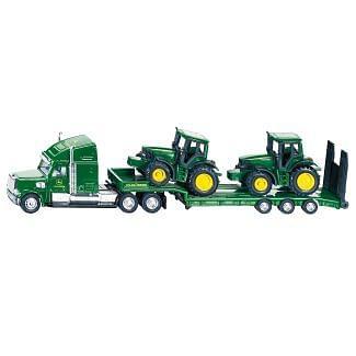 Siku Toy Low Loader with John Deere Tractors