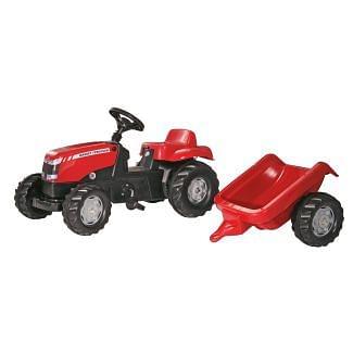 Rolly Toys RollyKid Massey Ferguson Ride on Tractor & Trailer