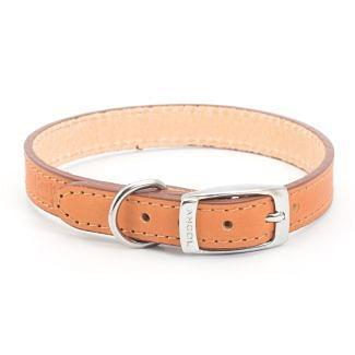 Ancol Heritage Leather Dog Collar Tan