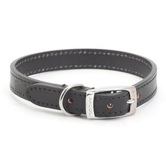 Ancol Heritage Leather Dog Collar Black