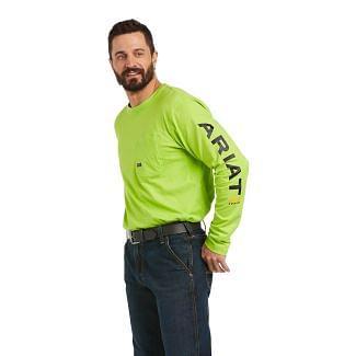 Ariat Mens Rebar Workman Logo Long Sleeve T-Shirt