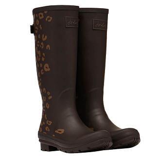 Joules Ladies Printed Wellington Boots Adjustable Back Gusset