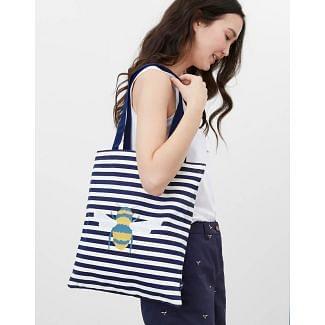Joules Ladies Lulu Canvas Tote Shopper Bag