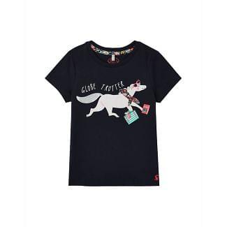 Joules Kids Astra Applique Jersey T-Shirt