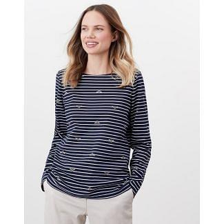 Joules Ladies Harbour Printed Long Sleeve Jersey Top