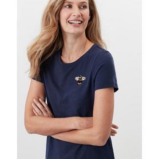 Joules Ladies Carley Print Classic Crew T-Shirt