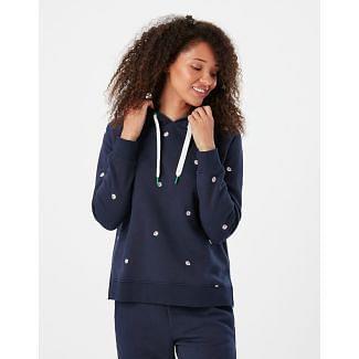 Joules Ladies Rowley Embellished Hooded Sweatshirt