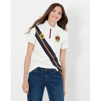 Joules Ladies Houghton Embroidered Zip Polo Shirt