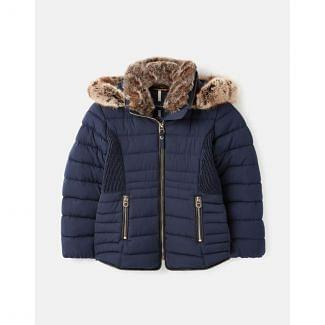 Joules Kids Girls Gosling Quilted Coat