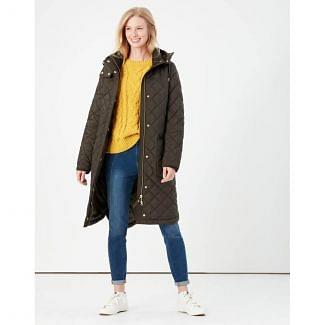 Joules Ladies Chatham Longline Quilted Coat | Chelford Farm Supplies