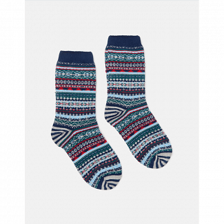 Joules Ladies Fairisle Boot Socks