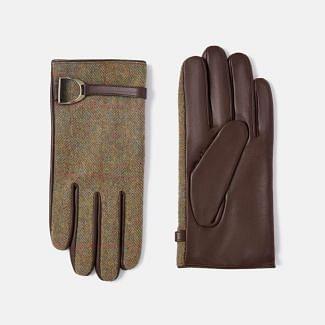 Joules Ladies Allerdale Tweed & Leather Gloves | Chelford Farm Supplies