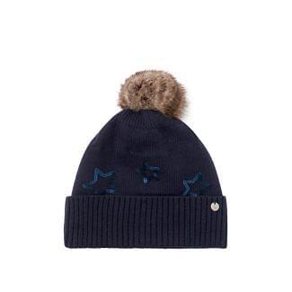 Joules Ladies Tilda Sequin Star Bobble Hat | Chelford Farm Supplies