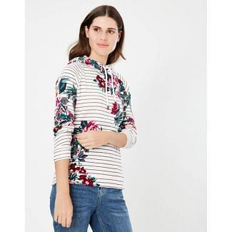 Joules Ladies Marlston Print Hooded Sweatshirt