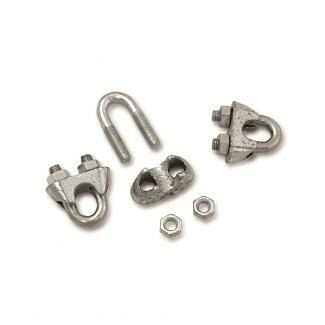 Rutland Electric Fencing Metal Clamp Grips Rope Connectors Pack of 5