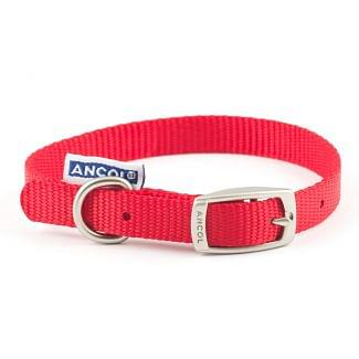 Ancol Heritage Nylon Dog Collar Red