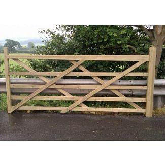 Timber Field Gate