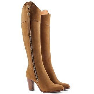 Fairfax & Favor Ladies High Heeled Regina Suede Boots