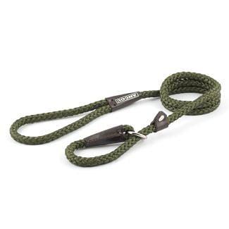Ancol Rope Slip Dog Lead Green