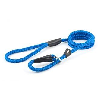 Ancol Rope Slip Dog Lead Blue