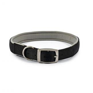 Ancol Heritage Padded Nylon Dog Collar Black