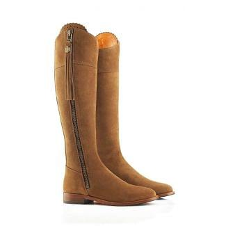 Fairfax & Favor Ladies Regina Sporting Fit Suede Flat Boots Tan