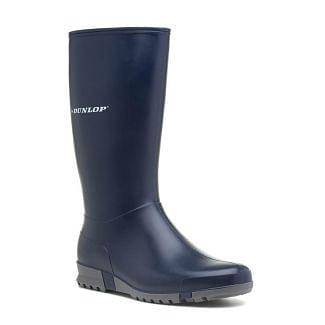 Dunlop Sport Hevea Wellington Boots Navy
