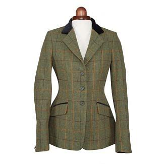 Shires Ladies Aubrion Saratoga Tweed Jacket Red/Yellow/Blue Check