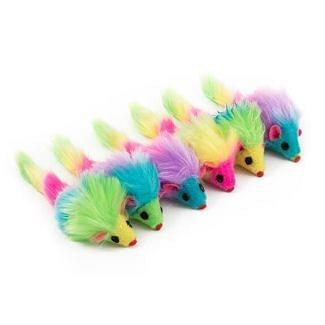Ancol Furry Rainbow Mice Cat Toy