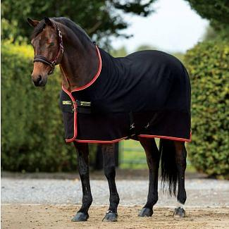 Horseware Rambo Softie Fleece Rug Black/Gold/Red