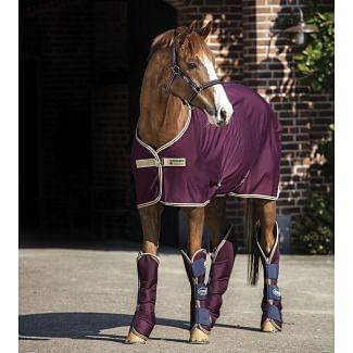 Horseware Amigo Jersey Cooler Rug Fig/Navy & Tan