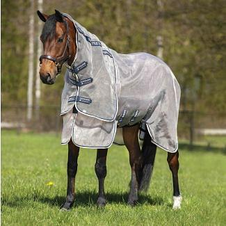 Horseware Rambo Protector Fly Rug Oatmeal/Navy