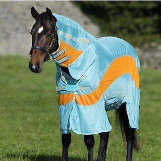Horseware Amigo Evolution Fly Rug Aqua/Orange