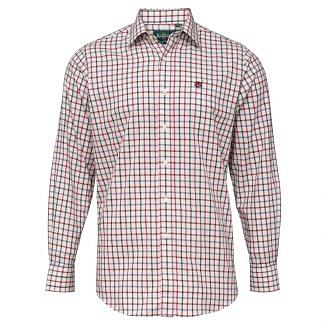 Alan Paine Mens Ilkley Check Shirt Red