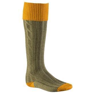 Alan Paine Mens Socks Ochre / Olive