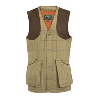 Alan Paine Mens Combrook Tweed Shooting Waistcoat - Chelford Farm Supplies