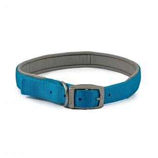 Ancol Heritage Padded Nylon Dog Collar Blue