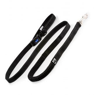 Ancol Extreme Shock Absorb Running Dog Lead Black 180cm