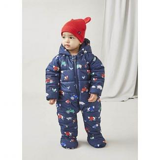 Joules Baby Snuggle Padded All-In-One Pramsuit