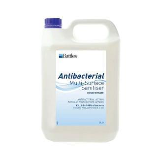 Battles Antibacterial Multi-Surface Sanitiser 5ml
